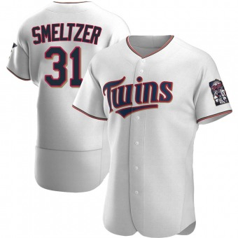 Authentic Minnesota Twins Devin Smeltzer Home Jersey - White