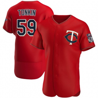 Authentic Minnesota Twins Michael Tonkin Alternate Jersey - Red